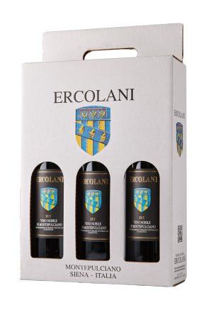 Confezione da 3 di vino Nobile di Montepulciano